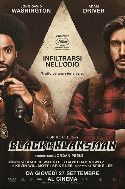 """""""BlacKkKlansman"""" esce in un momento appropriato quando la vena razzista e l'atteggiamento intollerante stanno riemergendo"""