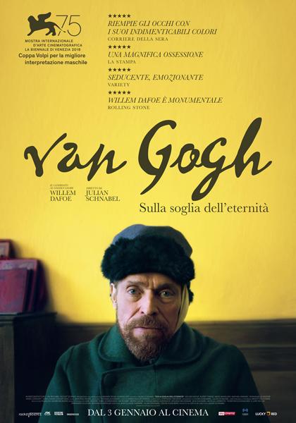 """""""Van Gogh – Sulla soglia dell'eternità"""" uno straordinario ritratto espressivo del grande pittore tinto del colore giallo"""