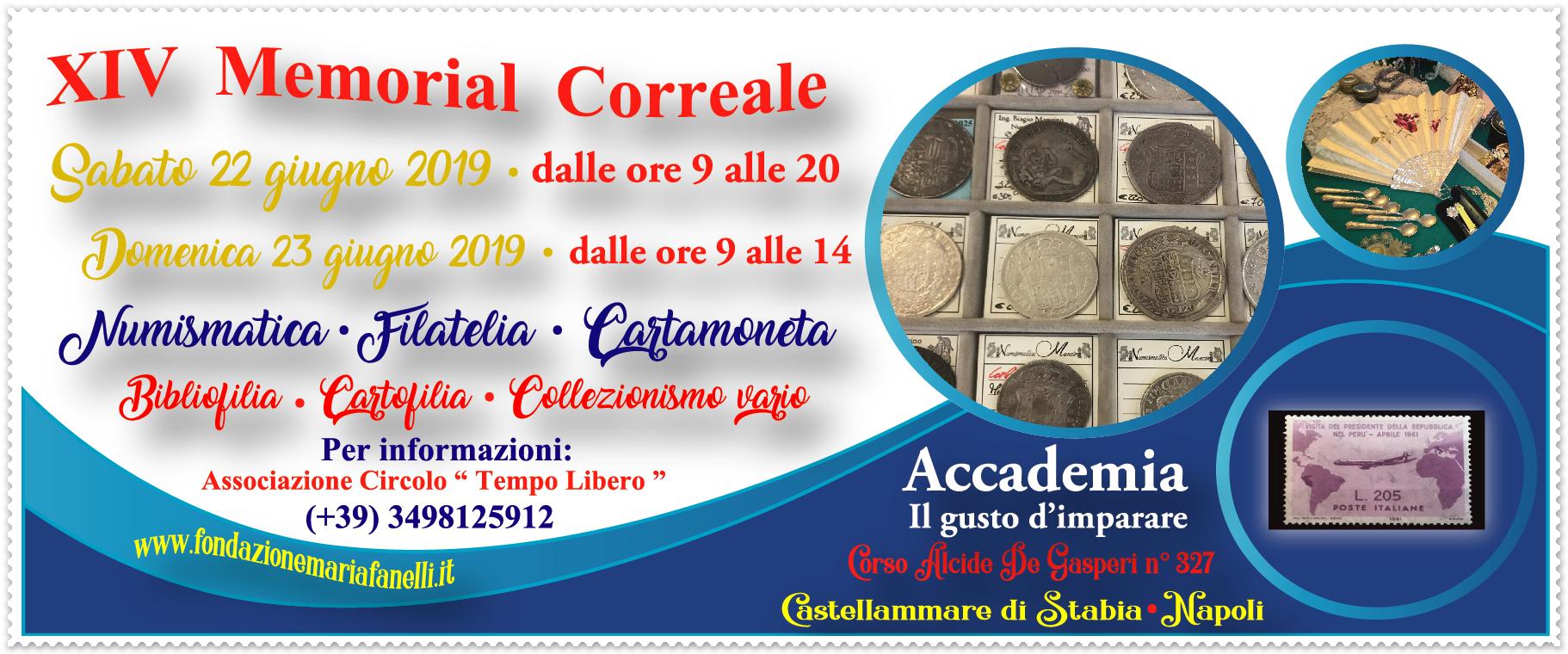 Collezionismo: XIV Memorial Correale – 22/23 Giugno 2019 Flyer-XIV-Memorial-Correale