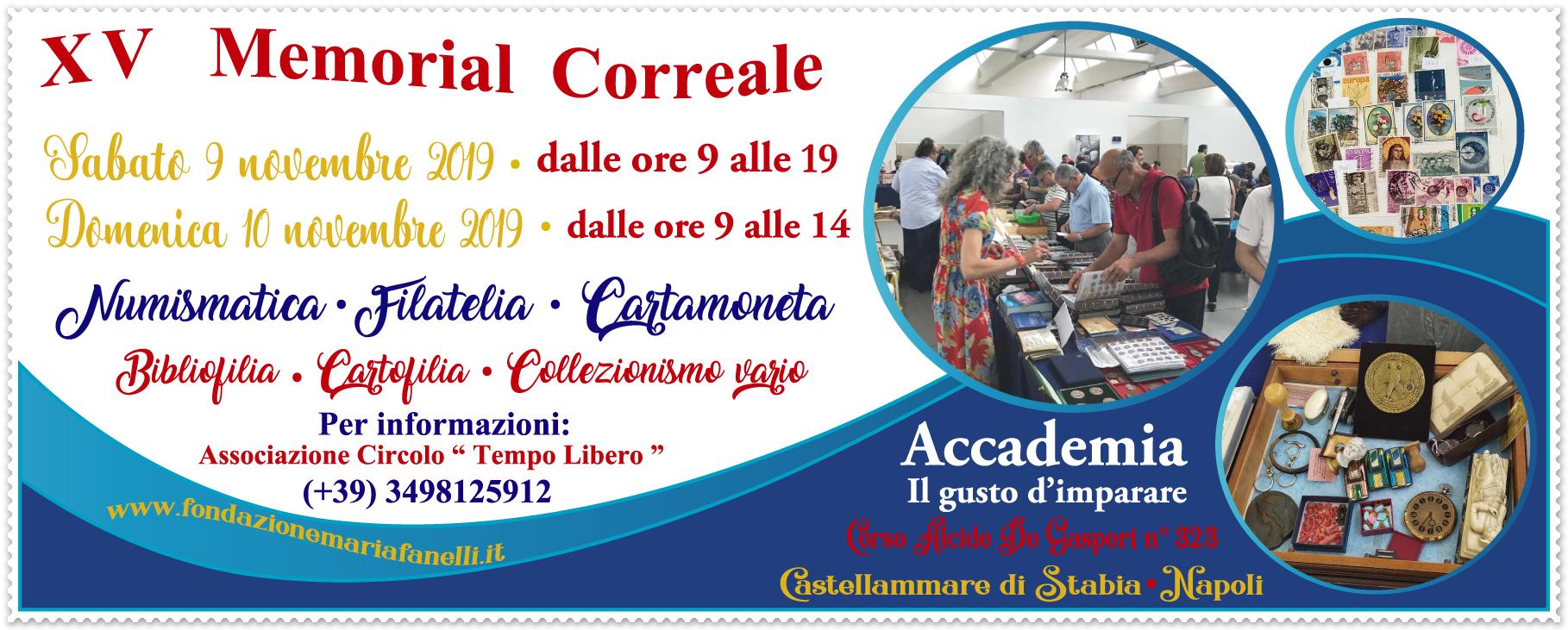 XV Memorial Correale – 9/10 Novembre 2019 (Castellammare di Stabia)
