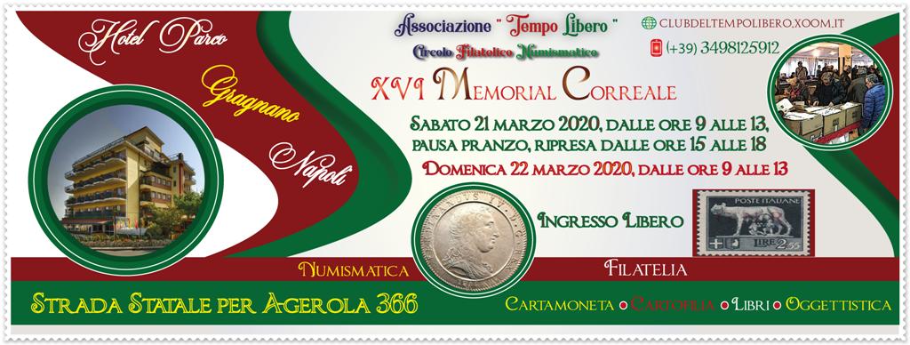 ***Rinviato***XVI Memorial Correale – 21-22 marzo – Gragnano (Napoli)