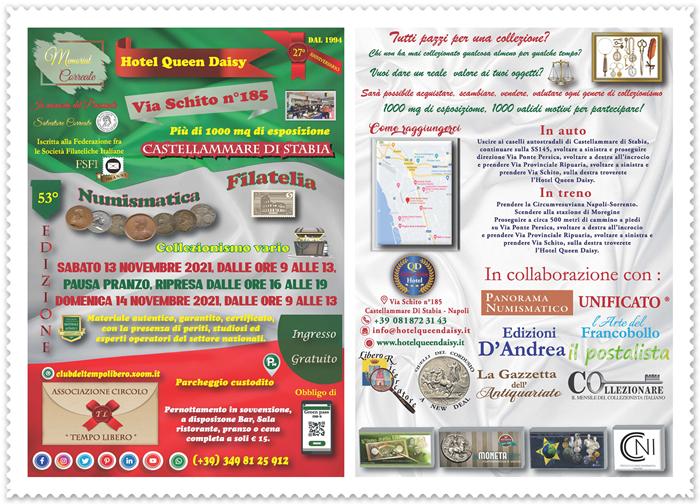 Collezionismo: Memorial Correale Novembre 2021 Locandina-Memorial-Correale-front-retro