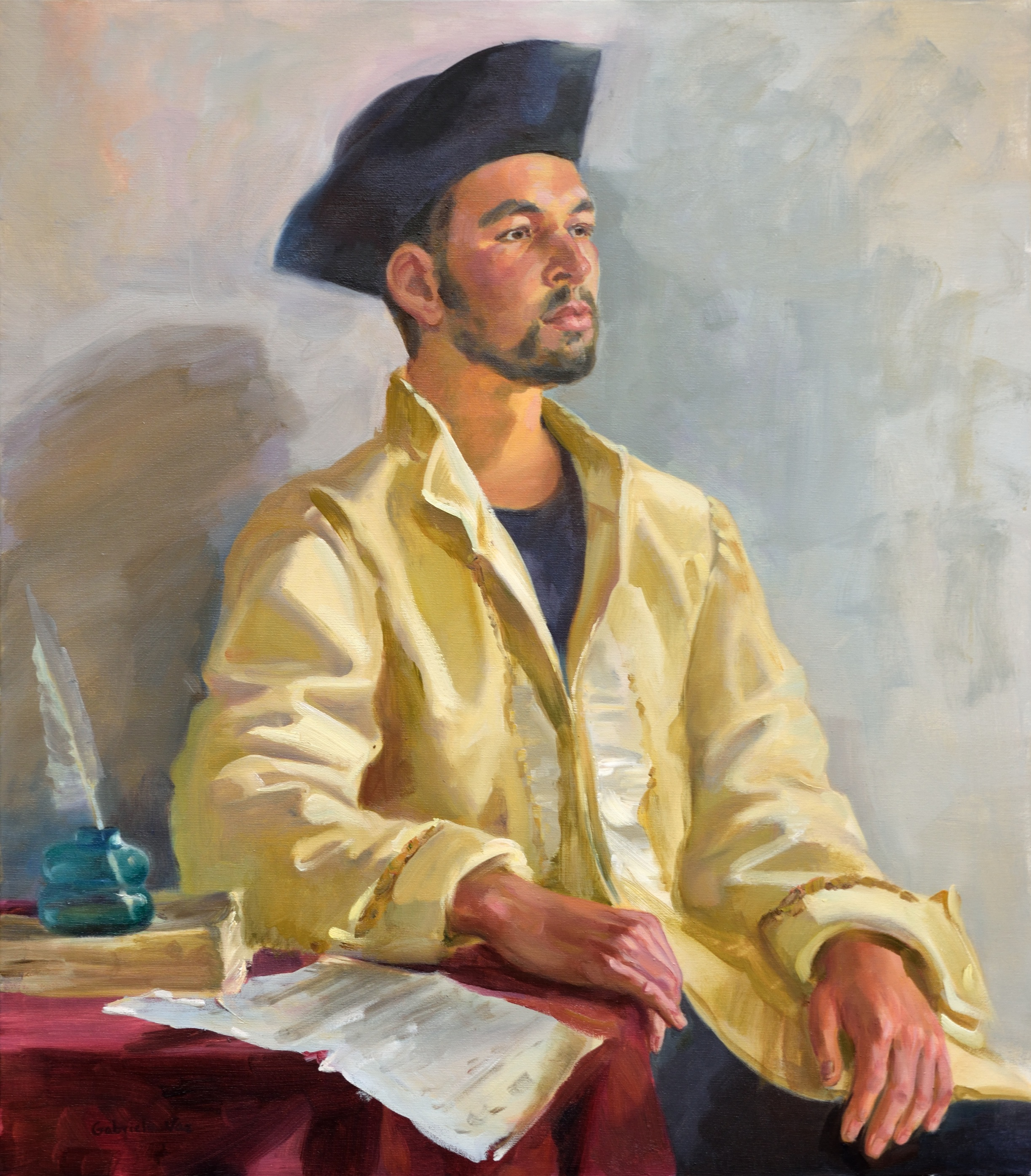 The captain, oil on canvas, 80 x 70 cm, 2018