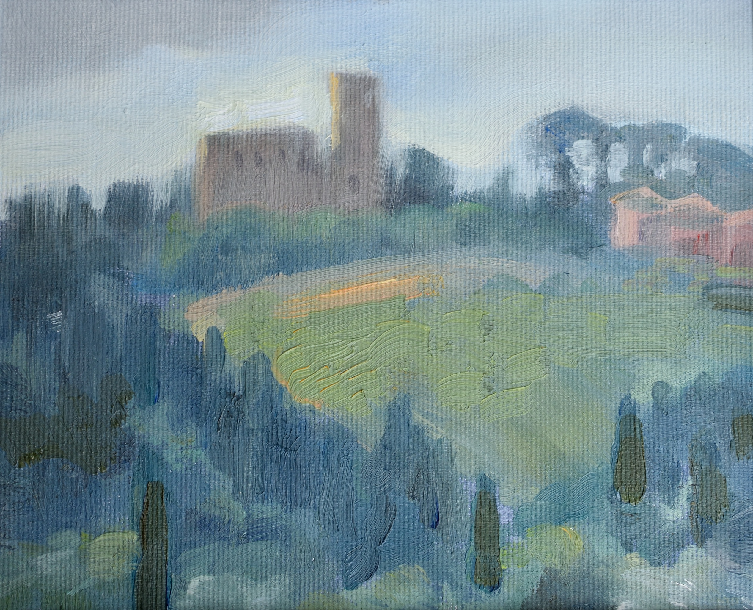 Torre del Gallo, oil on canvas, 15 x 20 cm, 2018