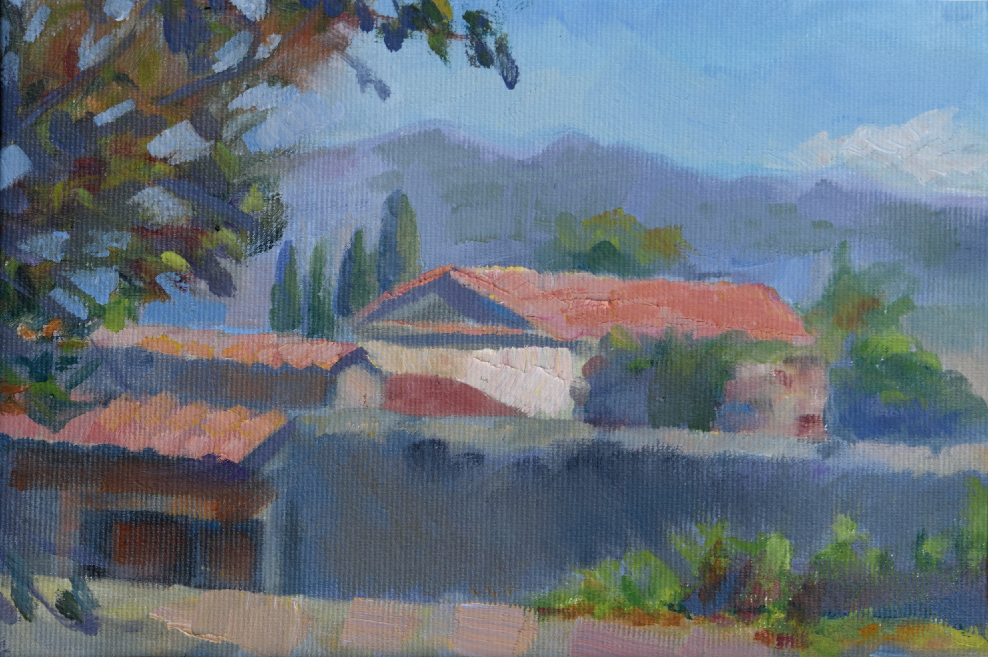 Via delle Porte Sante, oil on canvas, 15 x 23 cm, 2017