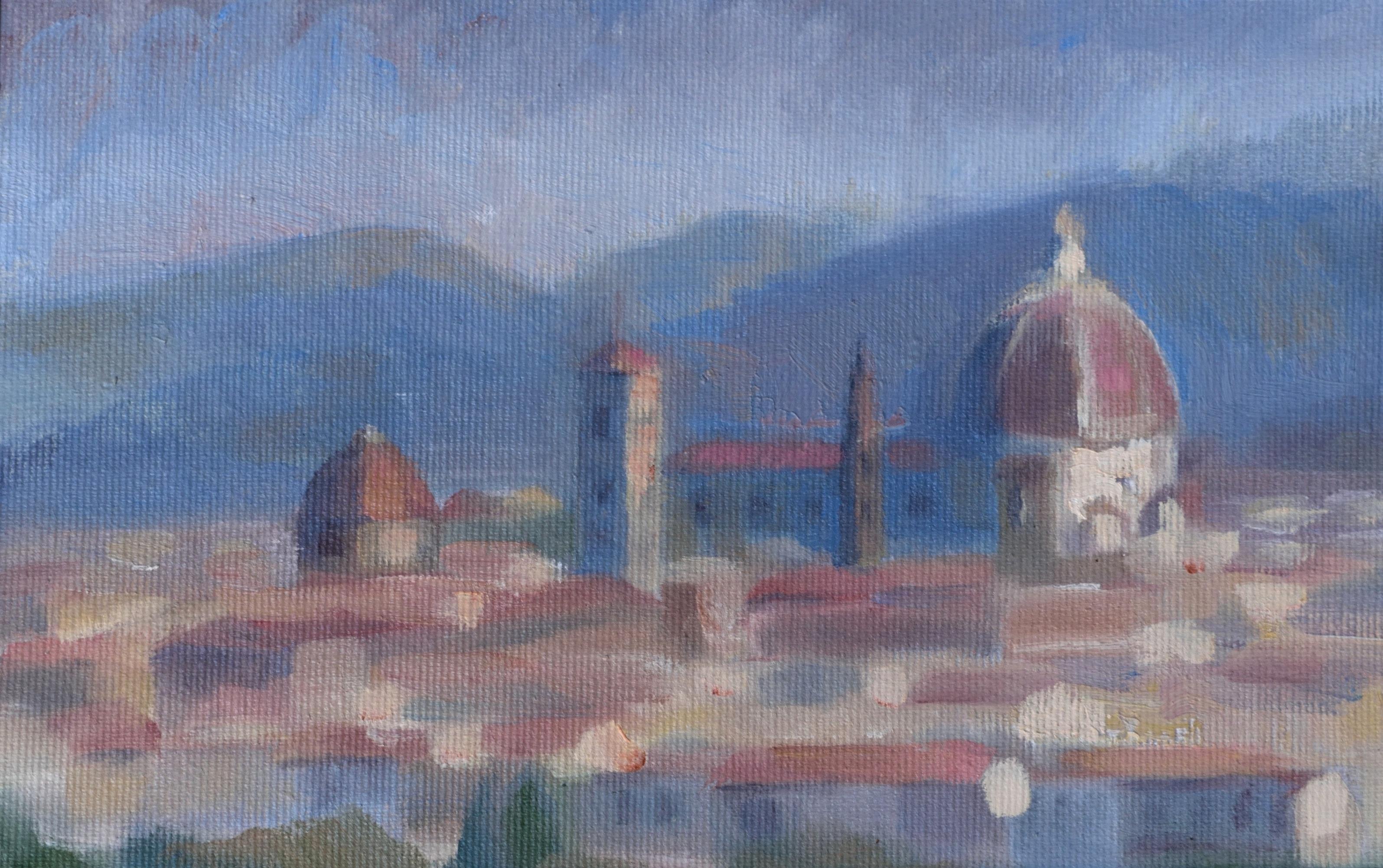 Duomo di Firenze, oil on canvas, 15 x 30 cm, 2017