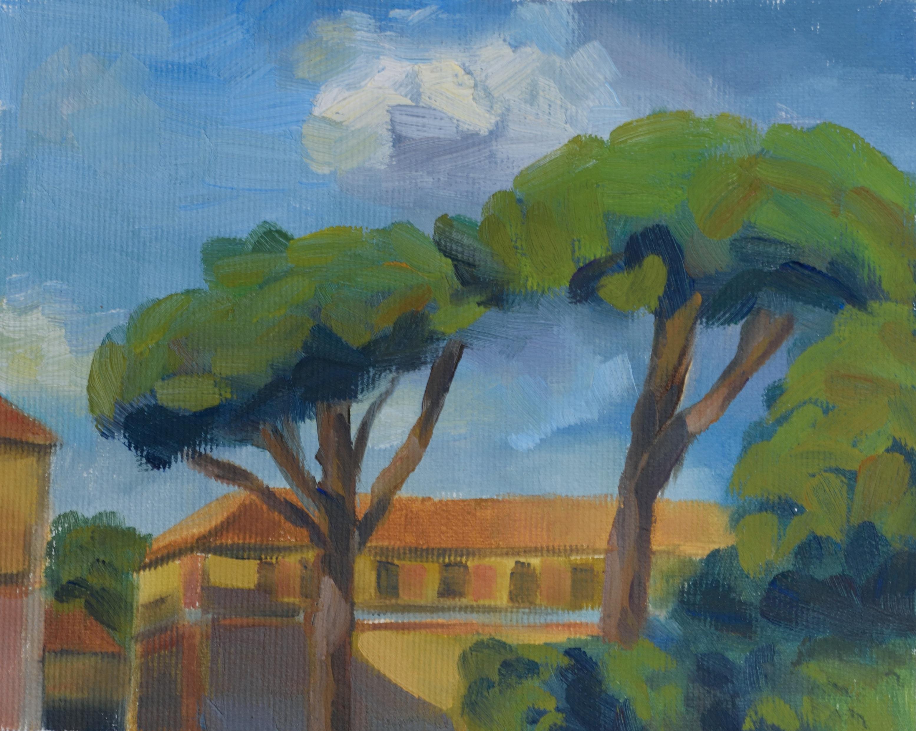 Piazzale delle Cascine, oil on canvas, 15 x 18 cm, 2017