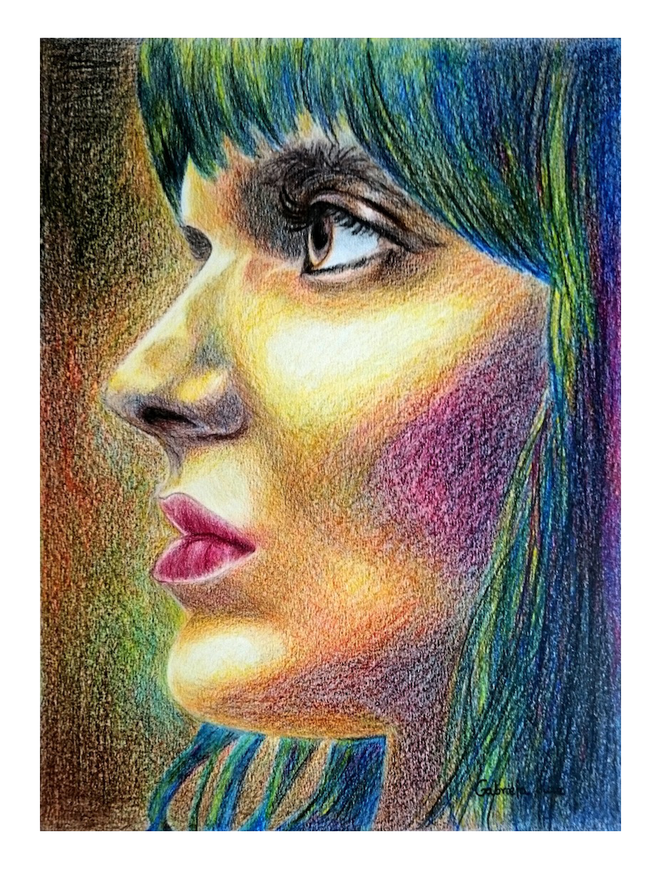 Lado B, colored pencil on paper, 42 x 30 cm, 2016