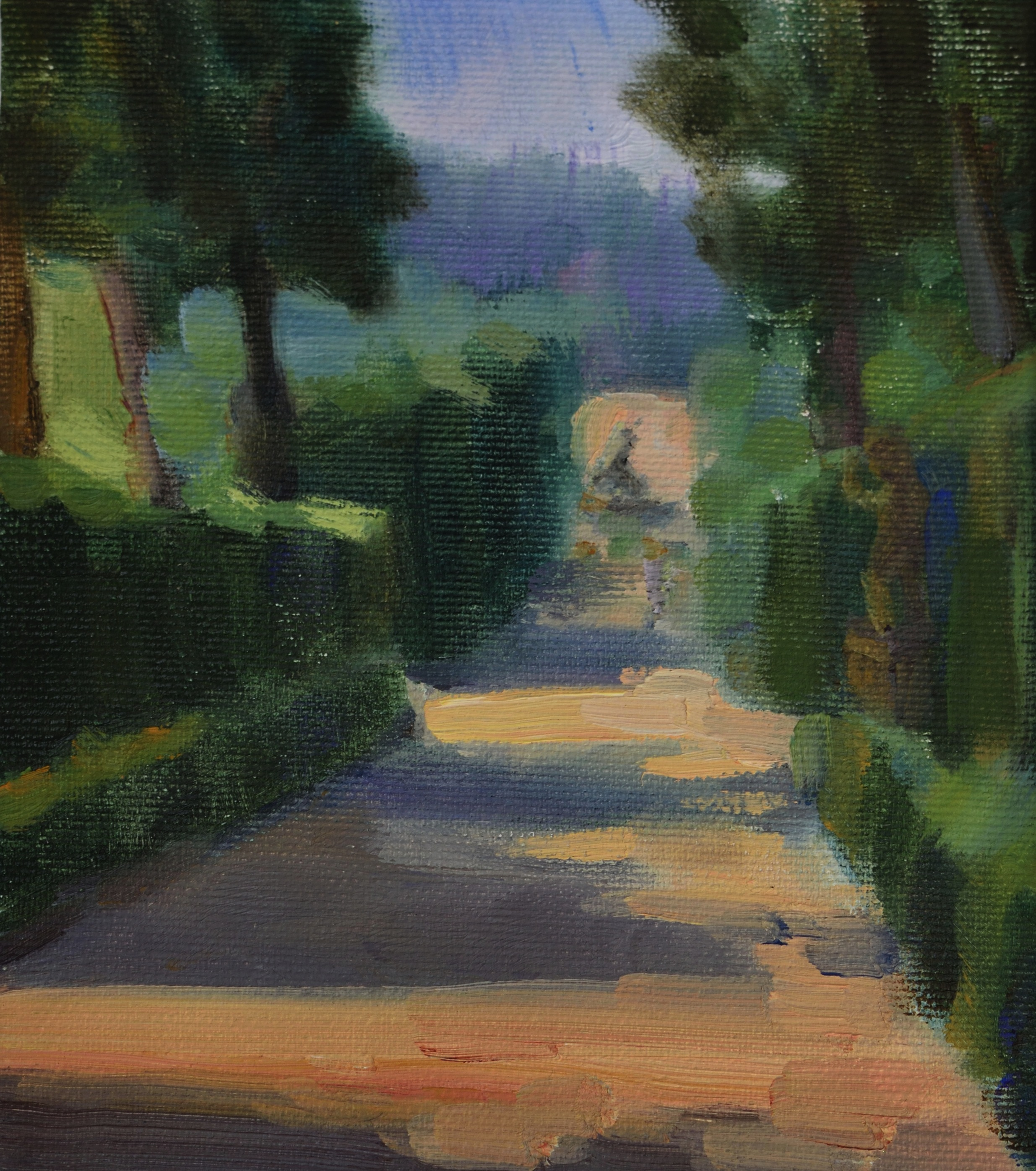 Viottolone di Boboli, oil on canvas, 17 x 15 cm, 2018