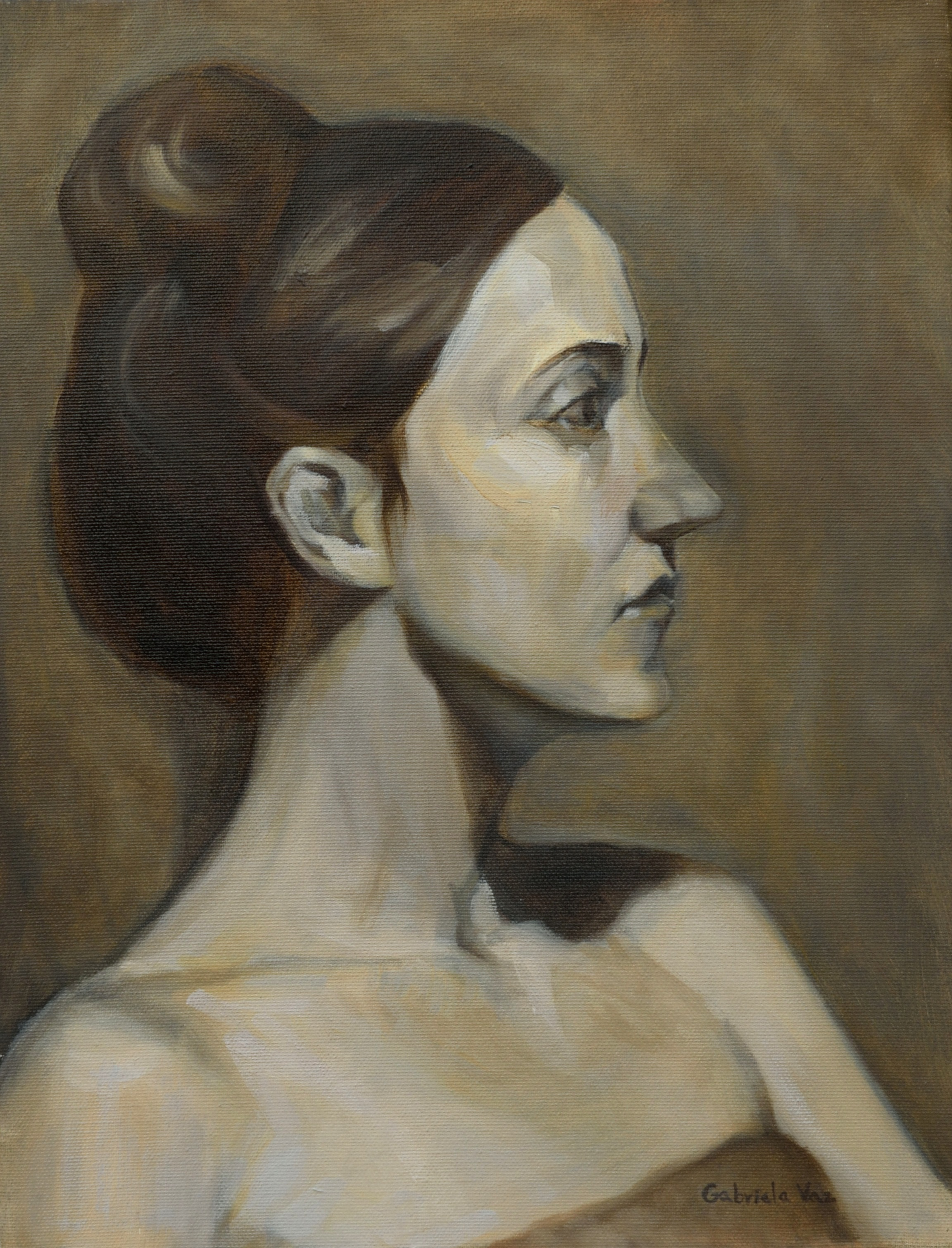 The french girl, oil on canvas, 45 x 35 cm, 2017