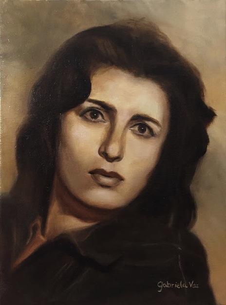 Anna Magnani, oil on canvas, 40 x 30 cm, 2018