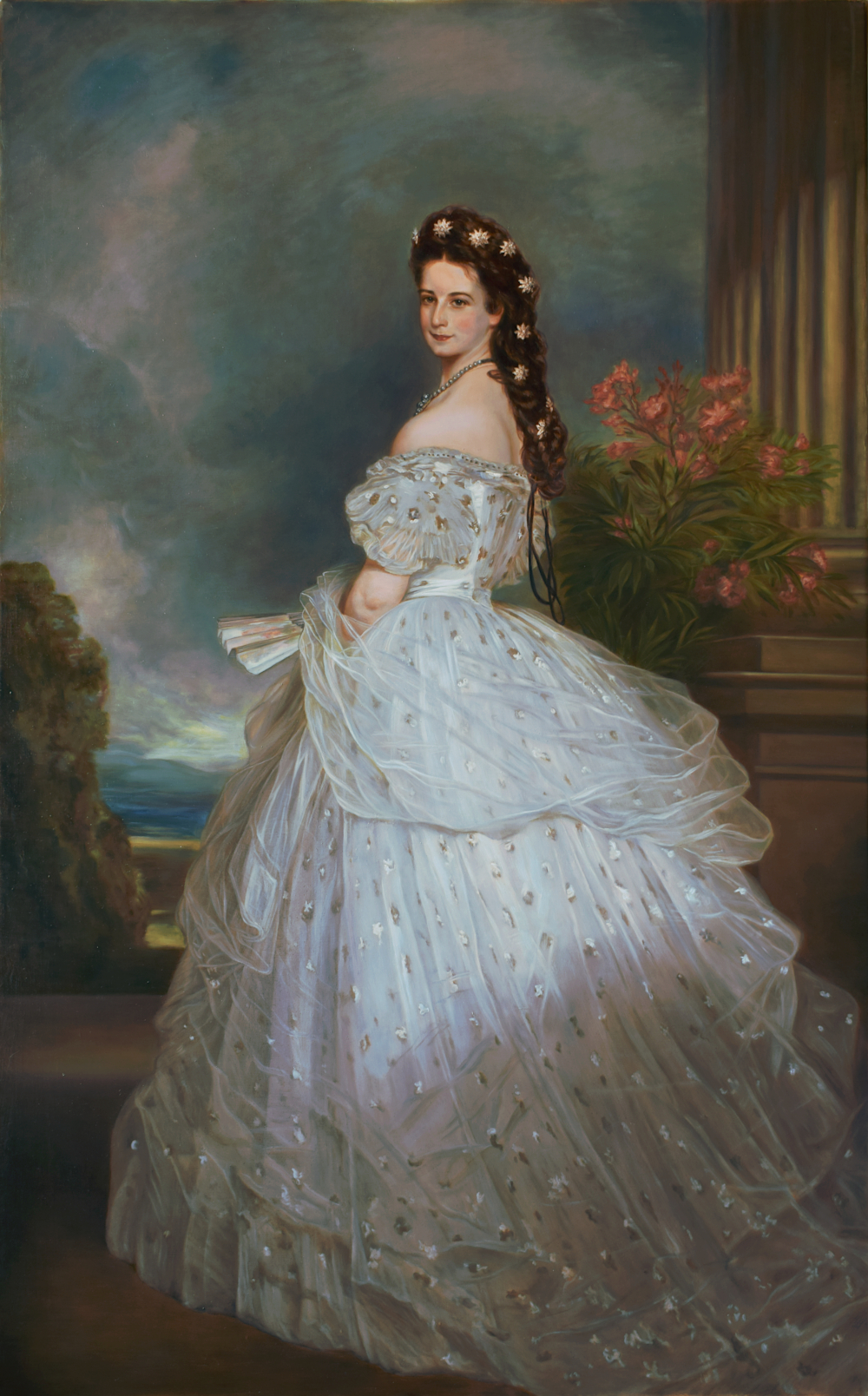 Copy of the painting Empress Elisabeth of Austria in Courtly Gala Dress with Diamond Stars