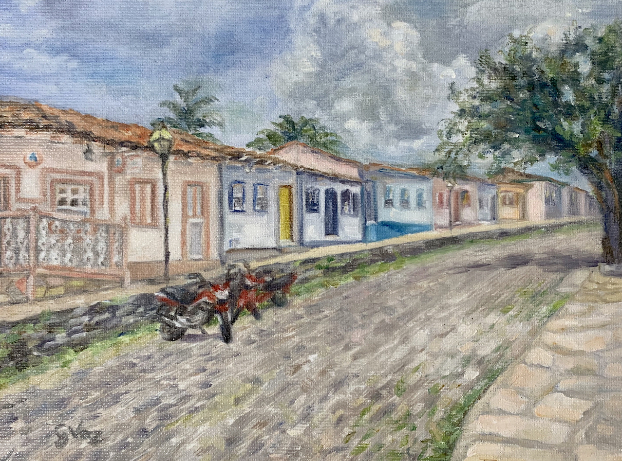 Rua Direita, oil on canvas, 18 x 25 cm, 2020