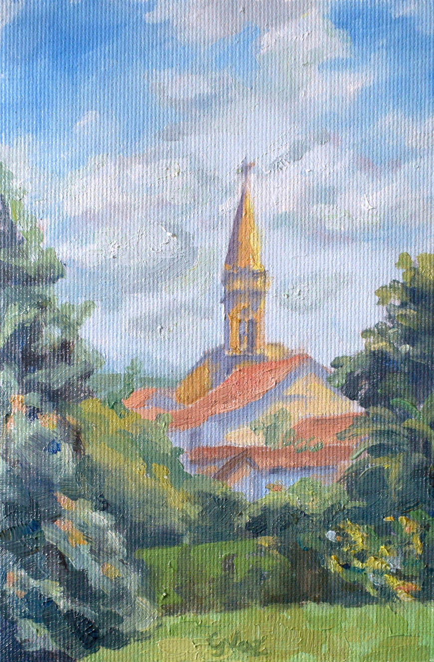 Igreja Nossa Senhora do Rosário, oil on canvas, 19 x 12 cm, 2020