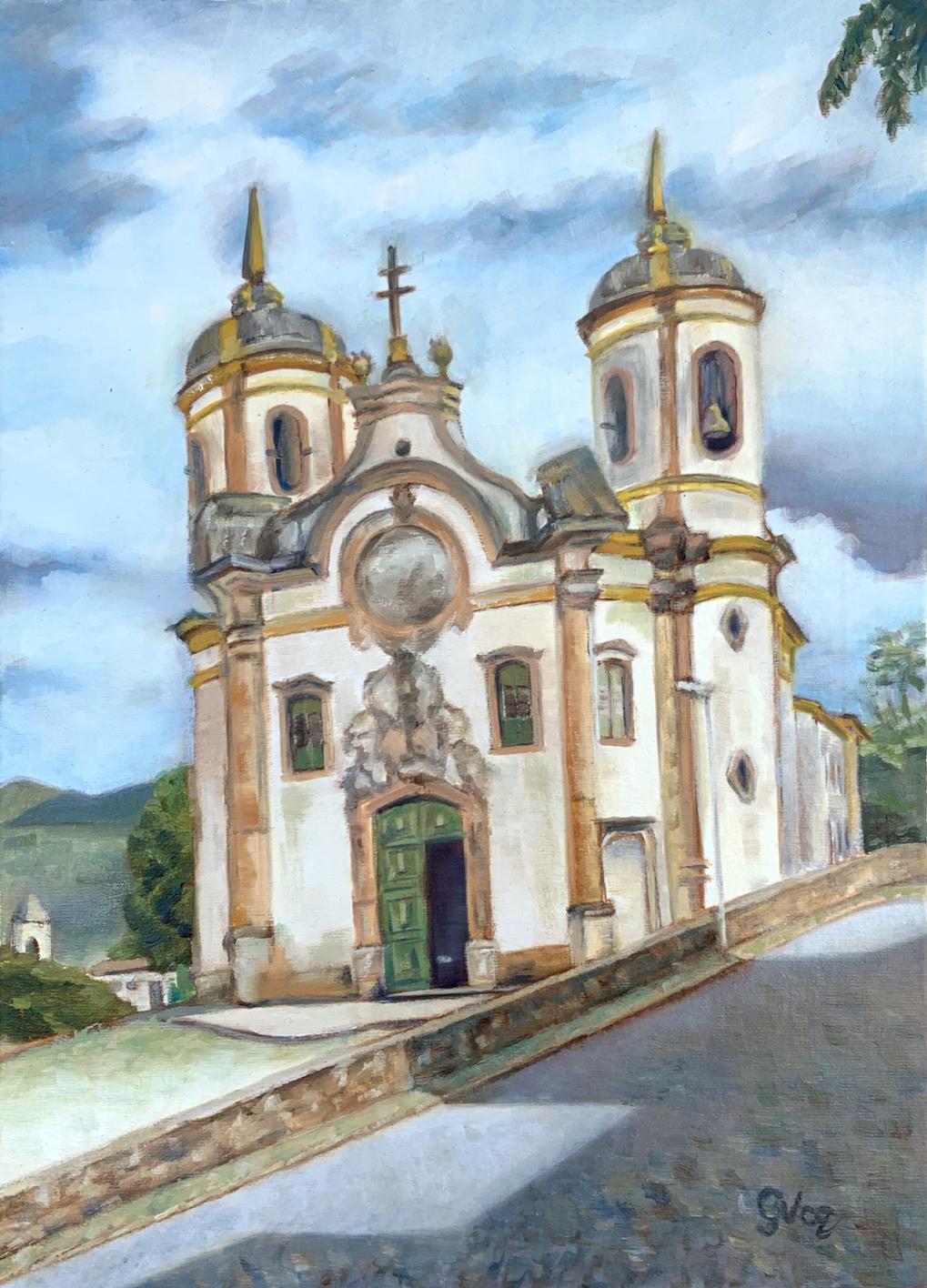 Igreja de São Francisco de Assis, oil on canvas, 35 x 25 cm, 2021
