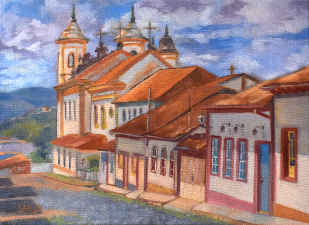Rua Nova, oil on canvas, 40 x 30 cm, 2021