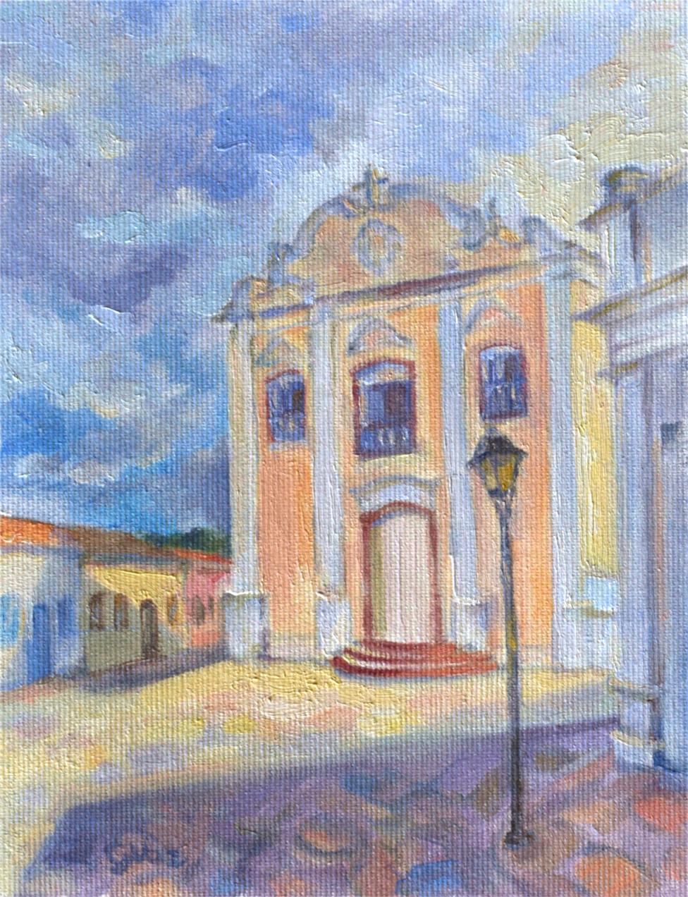 Igreja Nossa Senhora da Boa Morte, oil on canvas, 20 x 15 cm, 2020