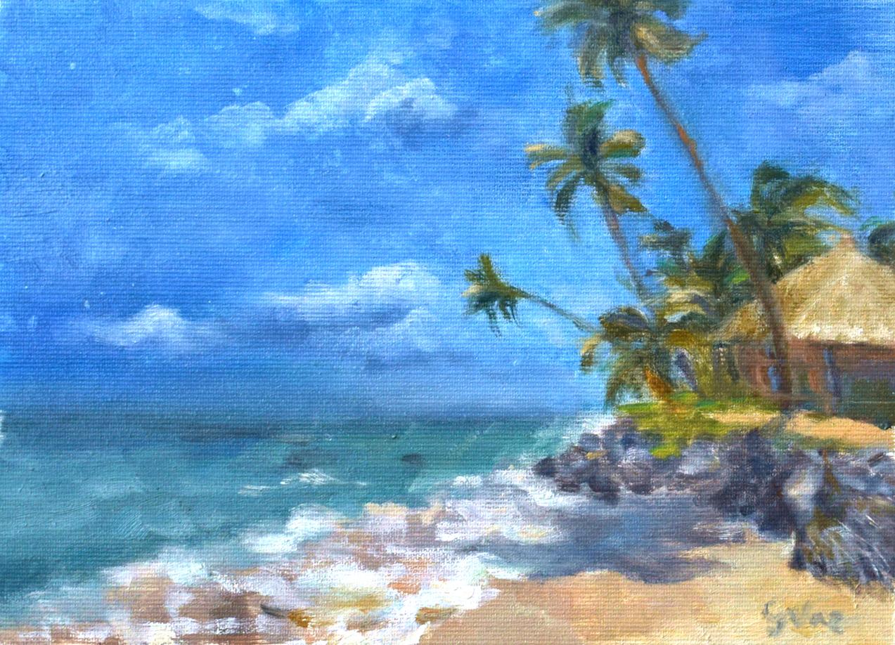 Ponta de Mangue, oil on canvas, 18 x 25 cm, 2019